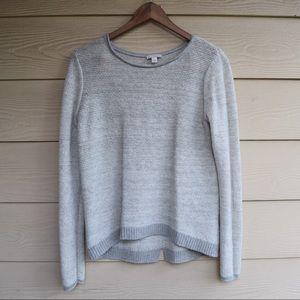 Gap Cuban Seam Soft Grey Knit Sweater